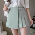 VK精品服飾 韓系百褶半身裙裙褲顯瘦寬口短褲子單品裙褲