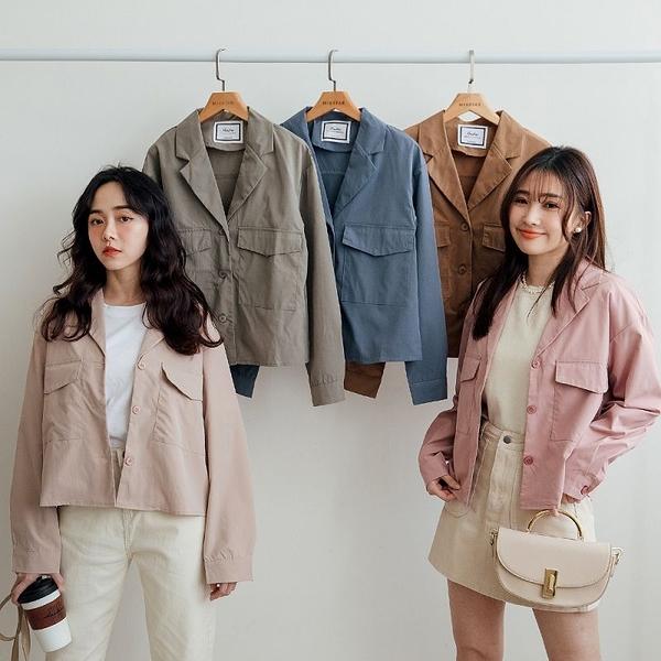 MIUSTAR 掀蓋雙口袋襯衫式工裝外套(共5色)【NJ0055】預購