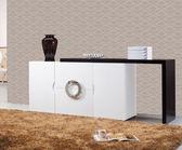 【新北大】✪ G410-1 帕克5尺白色伸縮餐櫃 -18購