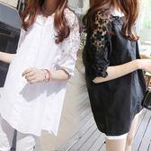 售完即止-夏裝新款韓版短袖襯衫200斤胖mm加肥加大尺碼女裝蕾絲T恤女8-10(庫存清出T)
