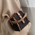 小眾設計小包包女新款潮秋冬水桶百搭大氣時尚側背斜背包 智慧 618狂歡