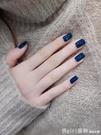 藍色指甲油女可剝持久水性可撕拉煙灰藍指甲油顯白 618購物節