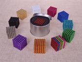 克球5mm216顆兒童益智磁鐵珠魔方禮品創意積木玩具磁力球送8顆巴  享購