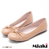 娃娃鞋優雅百搭女伶抓皺平底包鞋(MIT)