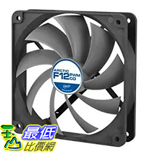 [106美國直購] ARCTIC F12 PWM PST CO - 120mm Dual Ball Bearing Low Noise PWM Standard Case Fan with PST Feature