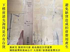 二手書博民逛書店European罕見Chemical News.Vol.67 N