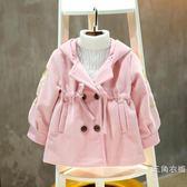 女童毛呢外套秋冬裝2018新款韓版中小童女孩洋氣童裝兒童呢子大衣