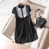 洋裝-短袖夏季新款青春洋溢連身裙73sz39【時尚巴黎】