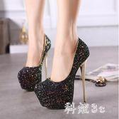 16夏熱賣女鞋 18CM/20公分超高跟涼鞋超穩粗跟舞臺演出鞋婚鞋JA8465『科炫3C』