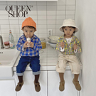 Queen Shop【01023740】童裝 可愛彩格雙口袋襯衫 兩色售 S/M/L/XL*現+預*