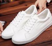 平板鞋男夏季新款男士白色青年休閒透氣平板鞋小白鞋子男【八五折限時免運直出】