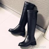 騎士靴女靴子秋冬加絨長筒靴不過膝高筒中筒靴馬靴皮靴長靴小個子-ifashion
