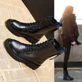 短靴 內增高真皮馬丁靴靴子女2020年新款英倫風短靴鞋子秋冬百搭瘦瘦靴【全館活動】