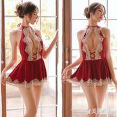 透明露背情趣制服 性感女蕾絲薄款騷內衣吊帶睡裙誘惑制服 BT4981『寶貝兒童裝』