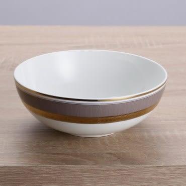 HOLA home 艾勒琴骨瓷麵碗6吋 淺棕