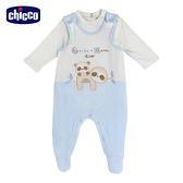 chicco-粉彩-剪毛絨兩件式背心褲套裝-藍色