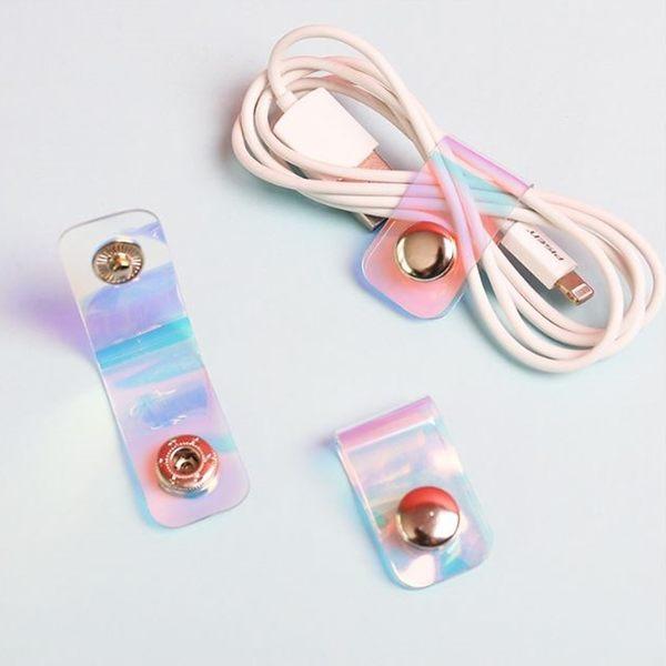 [拉拉百貨]簡易式理線扣 按扣繞線器 耳機 傳輸線 收納 整理器 理線器