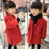 童裝 紅色毛尼大衣外套 中性款 橘魔法 magic baby 現貨 新年過年大紅新衣