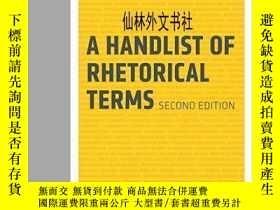 二手書博民逛書店【罕見】A Handlist Of Rhetorical TermsY27248 Richard A. Lan
