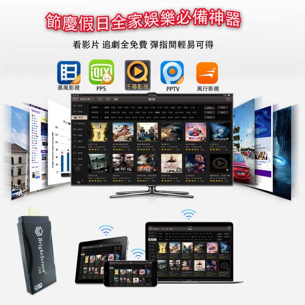 2020年第11代BrightScreen-80K終極黑鑽款雙頻5G無線影音鏡像器(送6大好禮)
