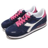 DIADORA 復古慢跑鞋 Titan II W 藍 白 基本款 經典款 拼接設計 運動鞋 女鞋【PUMP306】 DA160825C4380