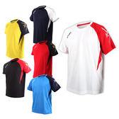 ASICS 男排羽球短袖T恤 (免運 羽球 排球 練習 亞瑟士≡體院≡