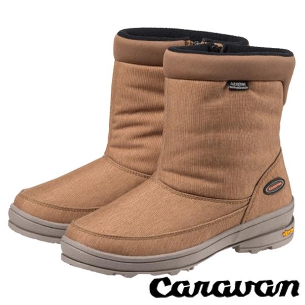 【日本 Caravan】SHC31W女短筒防水保暖雪鞋 淺棕 0023131 雪靴│輕量.保暖.抗寒.雪靴 (內厚鋪毛)