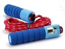 【計數跳繩】健身運動跳繩 海綿握把彈性繩...