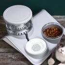 寵物餵食器 貓咪飲水機流動不插電狗狗不濕嘴水碗喂食寵物喝水水盆【快速出貨八折鉅惠】