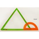 《 USL遊思樂教具 》伸縮扣條 ( 16 PCS + 15 CM 橘量角器 * 2) / JOYBUS玩具百貨