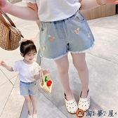 女童牛仔短褲韓版休閒兒童外穿潮童夏季薄款【淘夢屋】