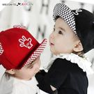寶寶立體耳朵手掌翻沿棒球帽 遮陽帽 鴨舌帽