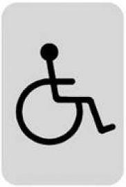 迪多deflect-o  610610S  殘障洗手間-鋁質方形貼牌 / 個