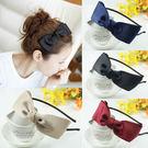 韓版 手工藝 綢緞 髮箍 雙層 蝴蝶結 ...