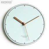 EMITDOOG現代簡約創意掛鐘客廳臥室家用時鐘北歐靜音時尚裝飾壁鐘