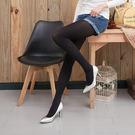 80D天鵝絨收腹提臀微壓啞光條紋褲襪絲襪 (黑色)