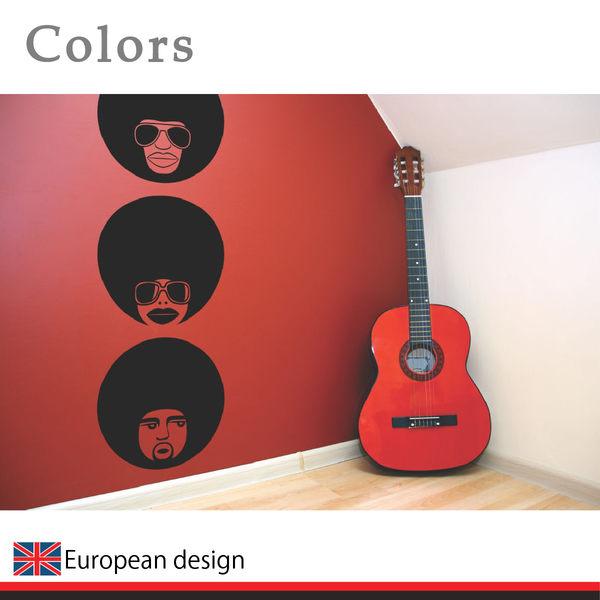 藝術壁貼【WD-075 嘻哈老兄】創意壁貼 空間設計 無毒無痕 造型壁貼 英國設計 現貨供應