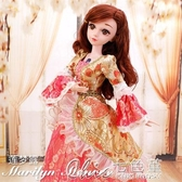 芭比娃娃 60厘米超大換裝洋娃娃芭比日記娃娃套裝大禮盒公主婚紗女孩玩具 3色YXS  七色堇