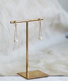 [現貨] itam 日本製 吊墜棉珍珠耳環/耳夾 (NP126)