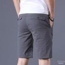 冰絲休閒短褲子男薄款透氣五分褲男青年寬鬆直筒男士中褲 快速出貨