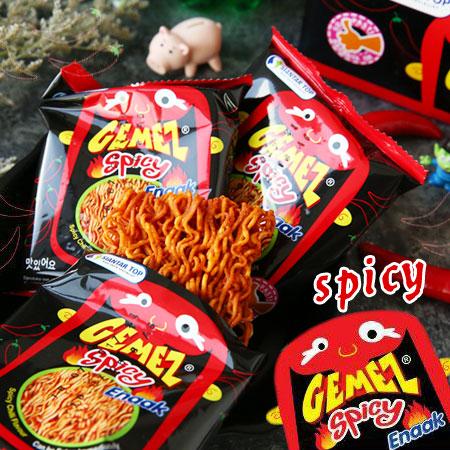 韓國 Enaak 辣味小雞點心麵 (30包入/盒裝) 420g 小雞麵 辣味小雞麵 點心麵 點心脆麵 餅乾