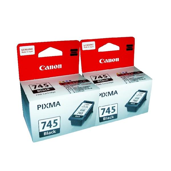 【二入組合】CANON PG-745 原廠黑色墨水匣 適用MG2470 MG2570 MG3070