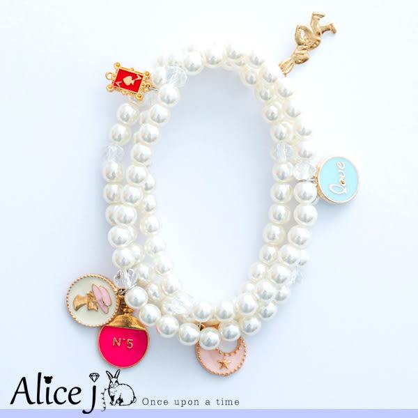 絕世佳人 低調的珍珠點綴風格吊飾手鍊