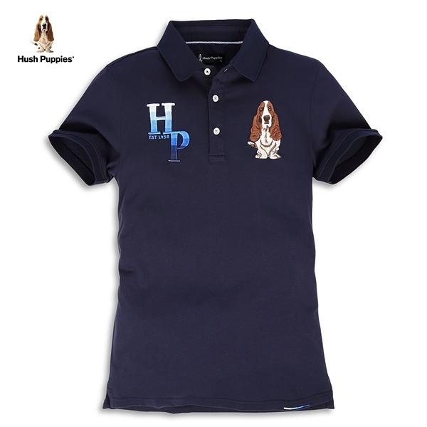 Hush Puppies POLO衫 男裝立體漸層字母刺繡狗POLO衫
