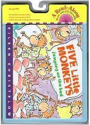 『鬆聽出英語力--第2週』-FIVE LITTLE MONKEYS JUMPING ON THE BED/英文繪本+CD (HM版本)