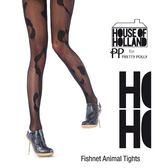『摩達客』英國進口House of Holland 時尚動物斑紋網襪(60112075011)