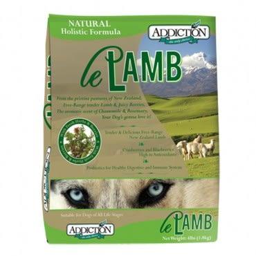 Addiction 自然癮食 無穀野牧羊肉寵食 犬糧 15kg