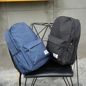 港仔原創男女雙肩包純色百搭學生書包英倫學院風休閒旅行背包帆布