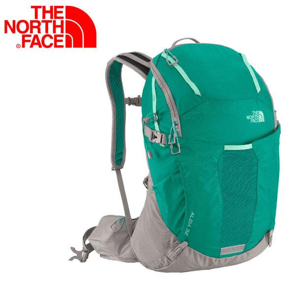【The North Face 32L 輕量專業登山背包 翠綠/玻璃綠】CF01/戶外/輕量/登山/旅行包/通勤/背包★滿額送