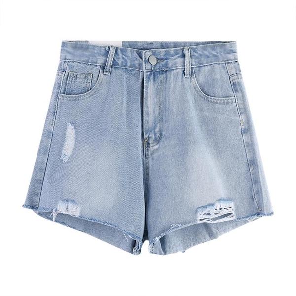 辣妹牛仔短褲女夏季薄款新款網紅高腰顯瘦寬松a字熱